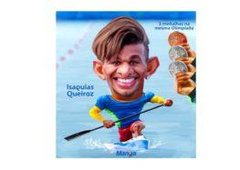 Clique e veja a homenagem a Isaquías Queiroz da canoagem