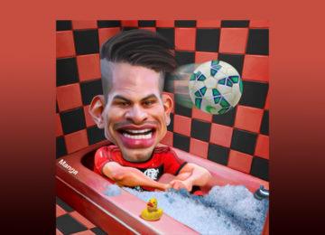 Clique e veja Guerrero curtindo uma banheira