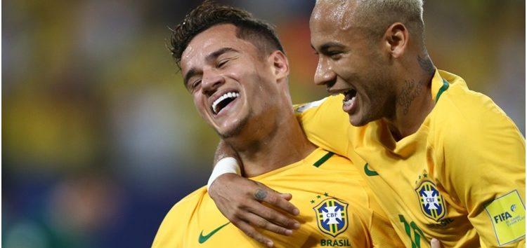 Brasil goleia e fica a dez pontos da Copa 2018