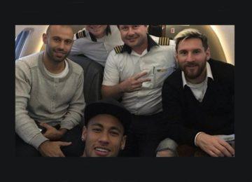 Neymar e Messi chegaram juntos?