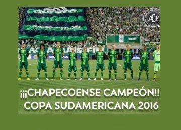 Chapecoense campeã Sul Americana