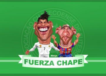 Clique e veja Messi e C. Ronaldo com a Chape