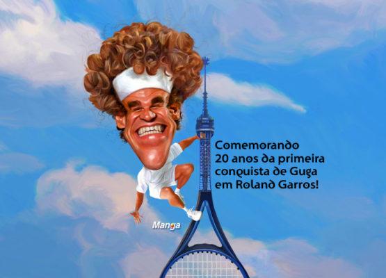 Clique e veja a homenagem ao tenista Guga Kuerten