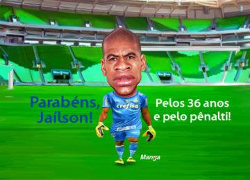 Clique e veja a animação do goleiro palmeirense Jaílson