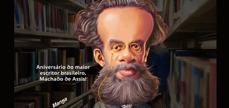 Confira a charge animada de Machado de Assis