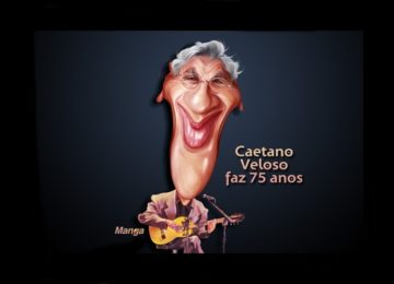Clique e veja a charge animada de Caetano Veloso