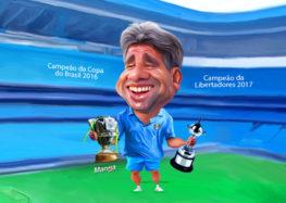 Veja a charge animada da estrela do tricampeão da Libertadores