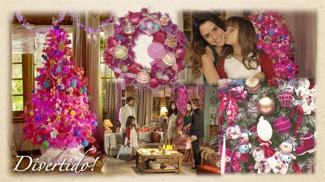 """0da26eb2be0 Encerramos esta semana com o Natal cor-de-rosa da novela """"A Vida da Gente"""""""