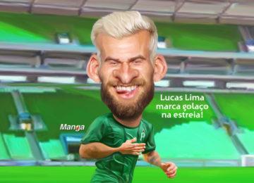 Clique e veja a charge animada do palmeirense Lucas Lima