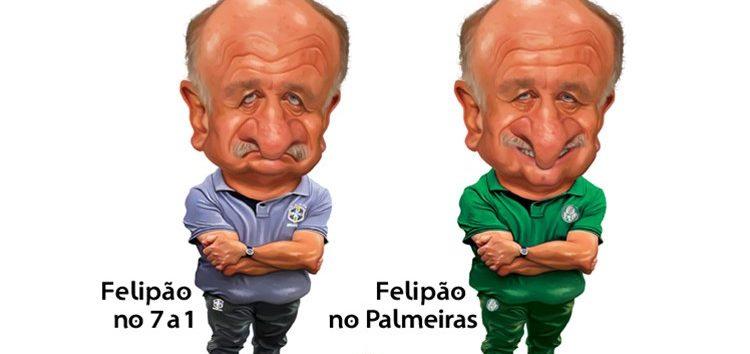 Manga: Clique e veja a charge de Felipão
