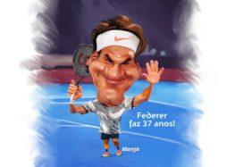 Manga: Clique e veja a charge de Federer