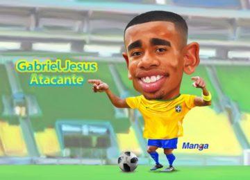 Manga: Clique e veja a alegria de Gabriel Jesus