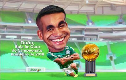 Manga:Confira charge de Dudu, Bola de Ouro do Brasileirão