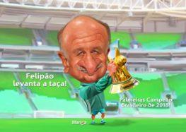 Manga: Palmeiras campeão do Brasileirão 2018