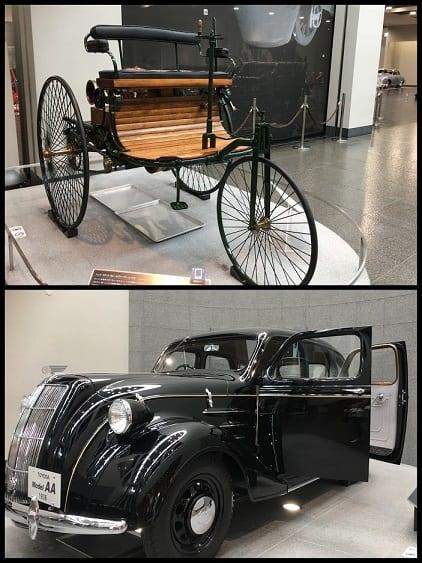 Primeiro carro de Karl Benz 1886 / Toyota AA 1936